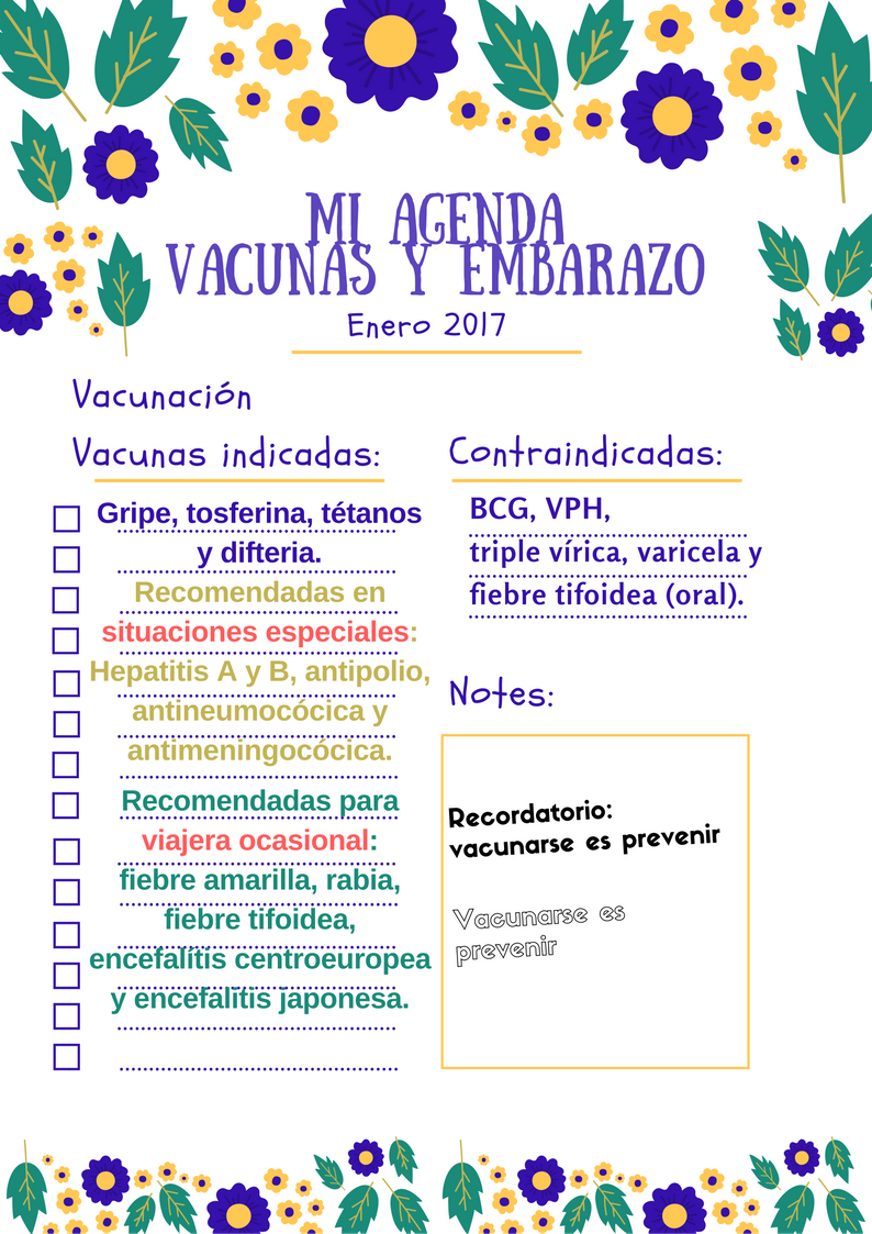vacunas indicadas y contraindicadas en el embarazo